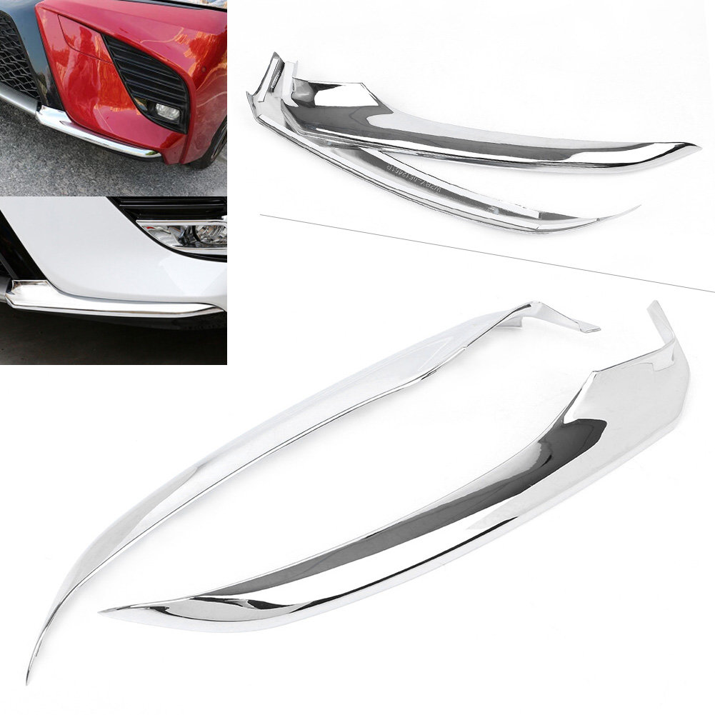 ABS Chrome Front Bumper Trim Anti-collision For Toyota Camry 2018