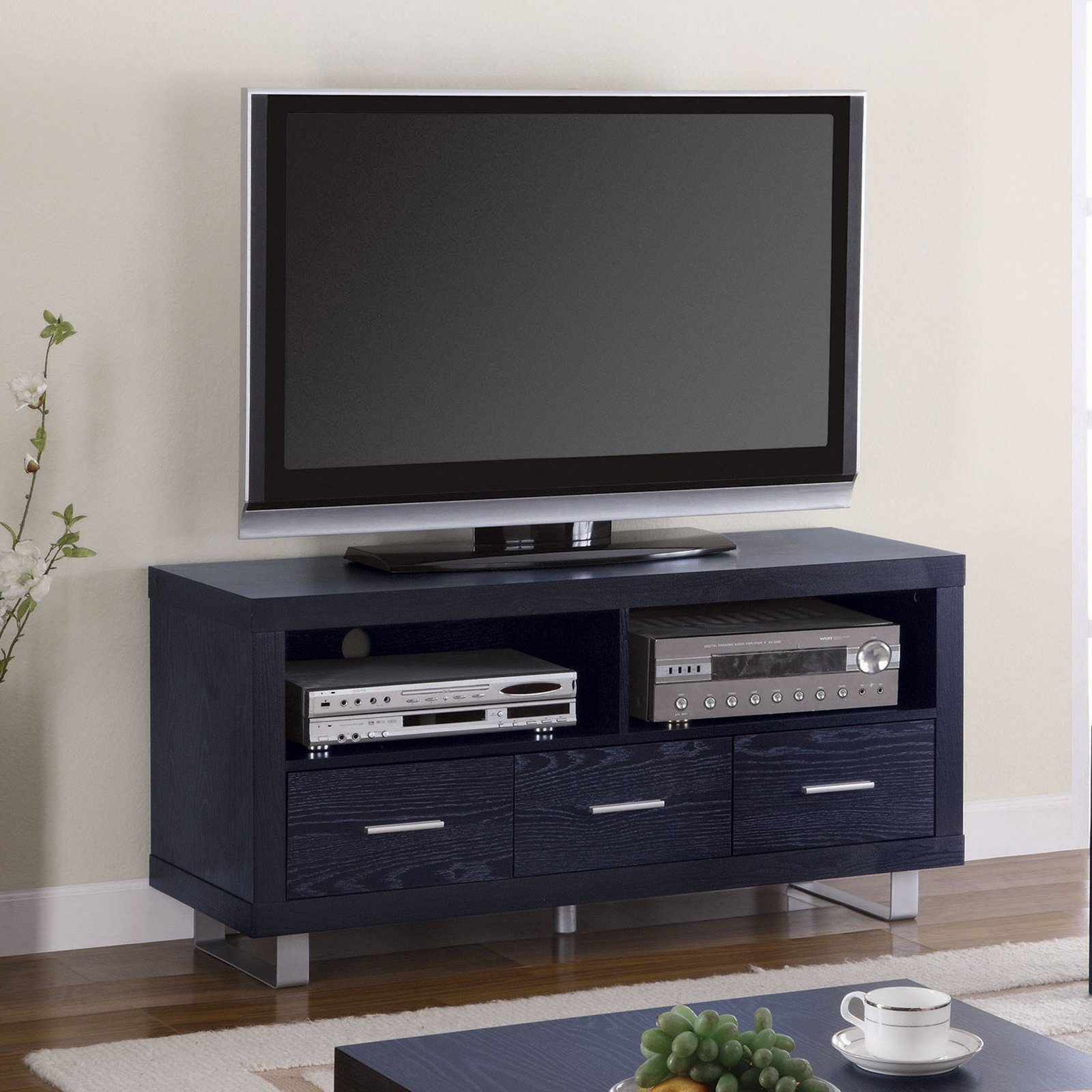 """Coaster Company Bold in Black TV Console for TVs up to 50"""""""