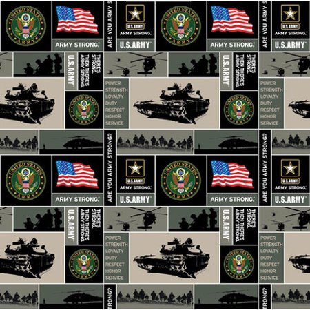 U.S. Army Fleece Fabric, per Yard