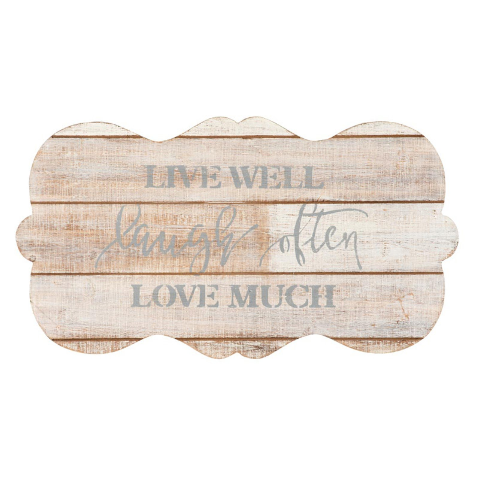 Foreside Home and Garden Live Laugh Love Wall Art