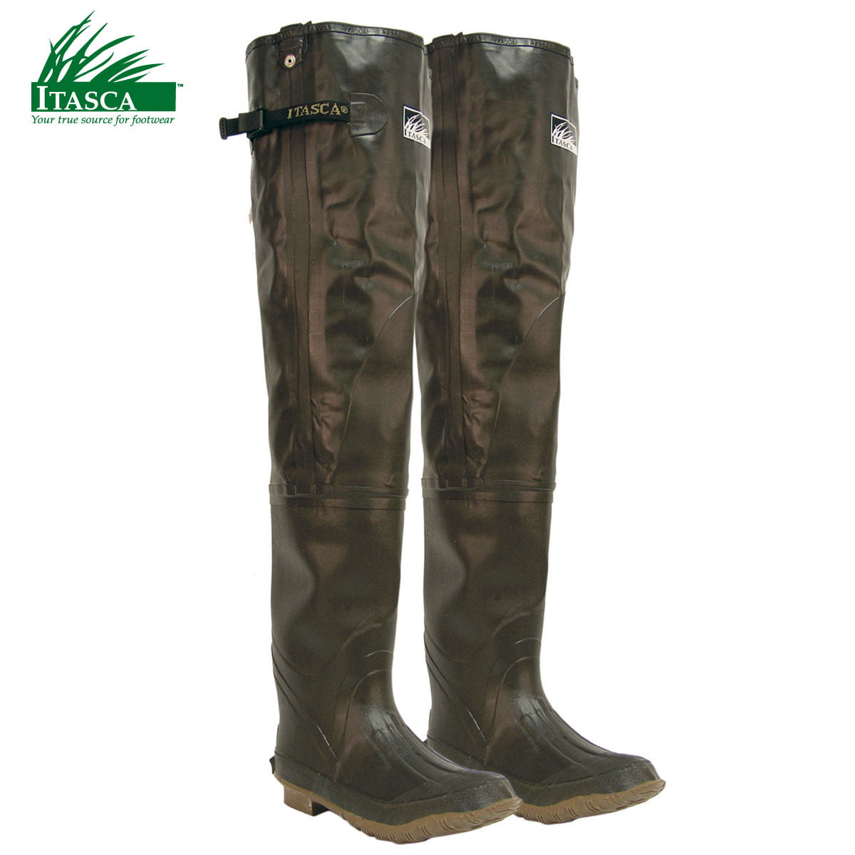 Itasca Rubber Men's Hip Waders (9)- Brown by Itasca