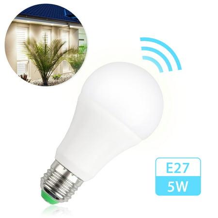 Eeekit Radar Sensor Led Light Bulb E27 Base Smart Motion Auto On Off Indoor Night Lights 5500 7000k Cool White 1 Pack