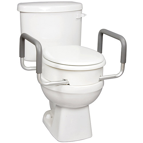 Carex Raised Toilet Arms With Elevator Seat For Standard