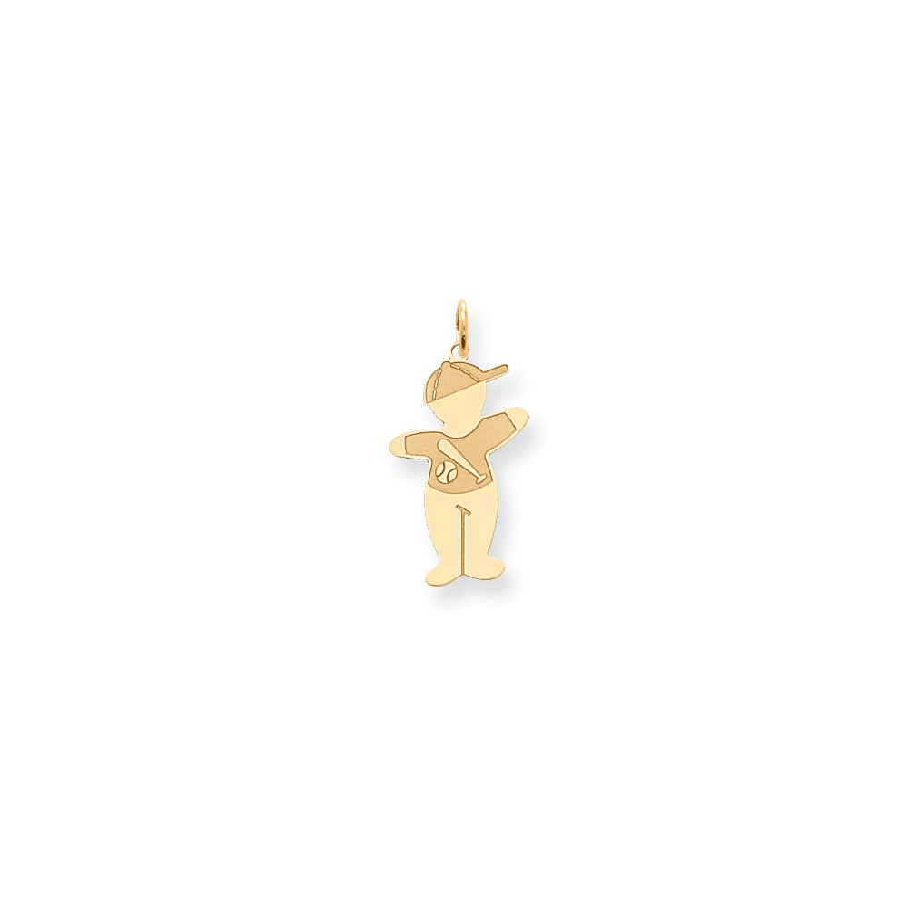 14k Yellow Gold Cuddle Charm (1.1in long x 0.5in wide)