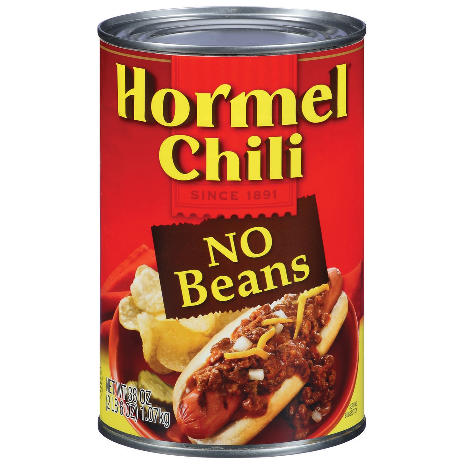 Hormel Chili No Beans, 38 Oz
