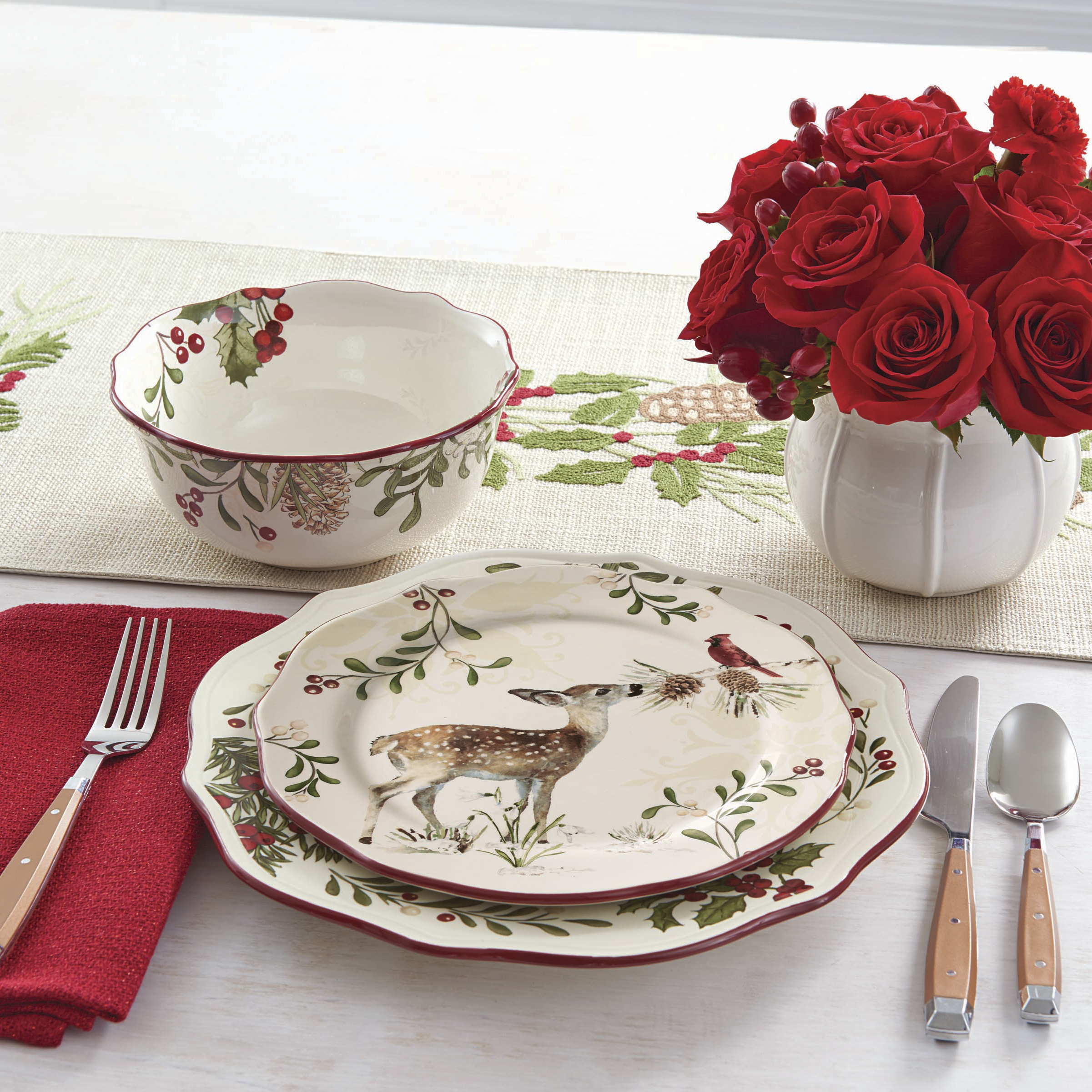 Better Homes and Gardens 16-Piece Heritage Dinnerware Set & Better Homes and Gardens 16-Piece Heritage Dinnerware Set - Walmart.com