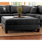 KlaussnerFurniture 012013121429 Klaussner Canyon Ottoman, Onyx