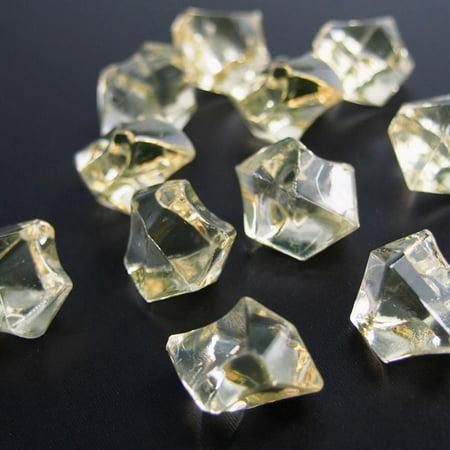 Acrylic Crystal Gem Stone Ice Rocks Table Scatter, 1-inch, 150-piece Gemstone Crystal Palm Stone