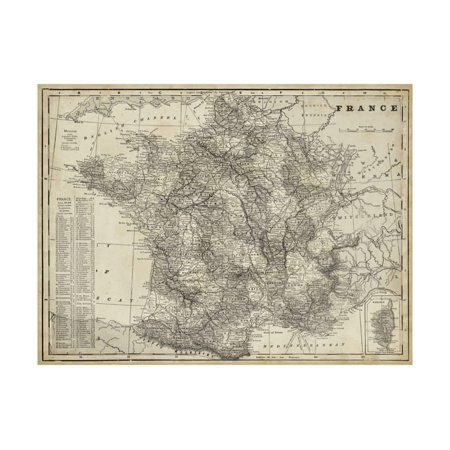 Antique Map of France Print Wall Art By Vision - Antique French Art
