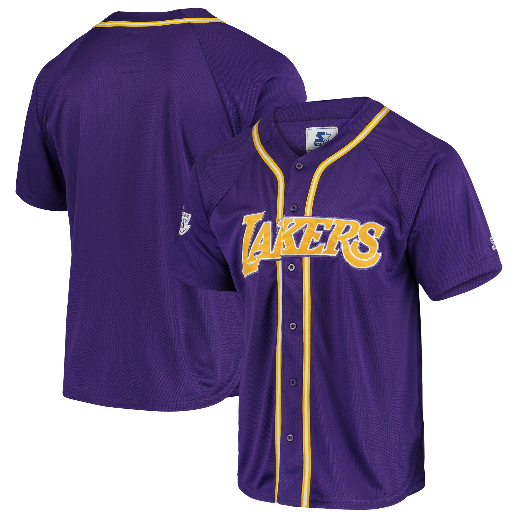 watch ef02b c2ecd Los Angeles Lakers Starter Legacy Baseball Jersey - Purple