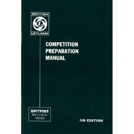 Triumph Spitfire Competition Preparation Manual Walmartcom