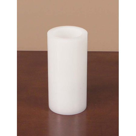 Pack of 6 White Battery Operated Flameless LED Wax Pillar Christmas Candles 6""