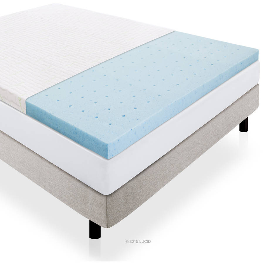 "Lucid 2.5"" Gel Plush Ventilated Memory Foam Mattress Topper by CVB Inc."