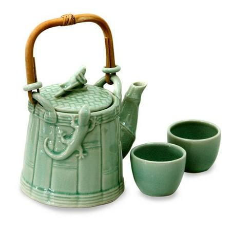 Bloomsbury Market Mcabee Cricket and Gecko 3 Piece Porcelain China Tea