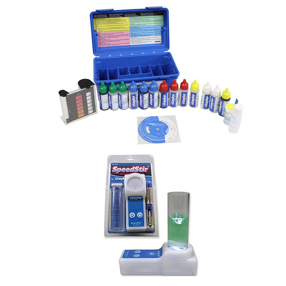 Taylor Complete Pool Water Test Kit + Magnetic Stirrer Speedstir Start Up Kit