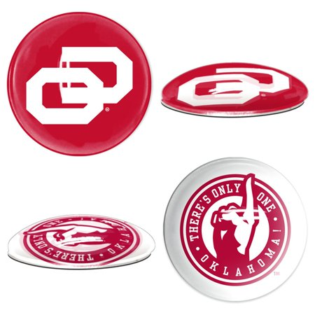 Oklahoma Sooners Official NCAA  Sport Dotts Magnet 2 Pack by Wincraft