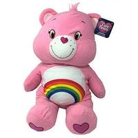 "Care Bears 24"" Pillow Plush Stuffed Animal, Cheer Bear (Pink)"
