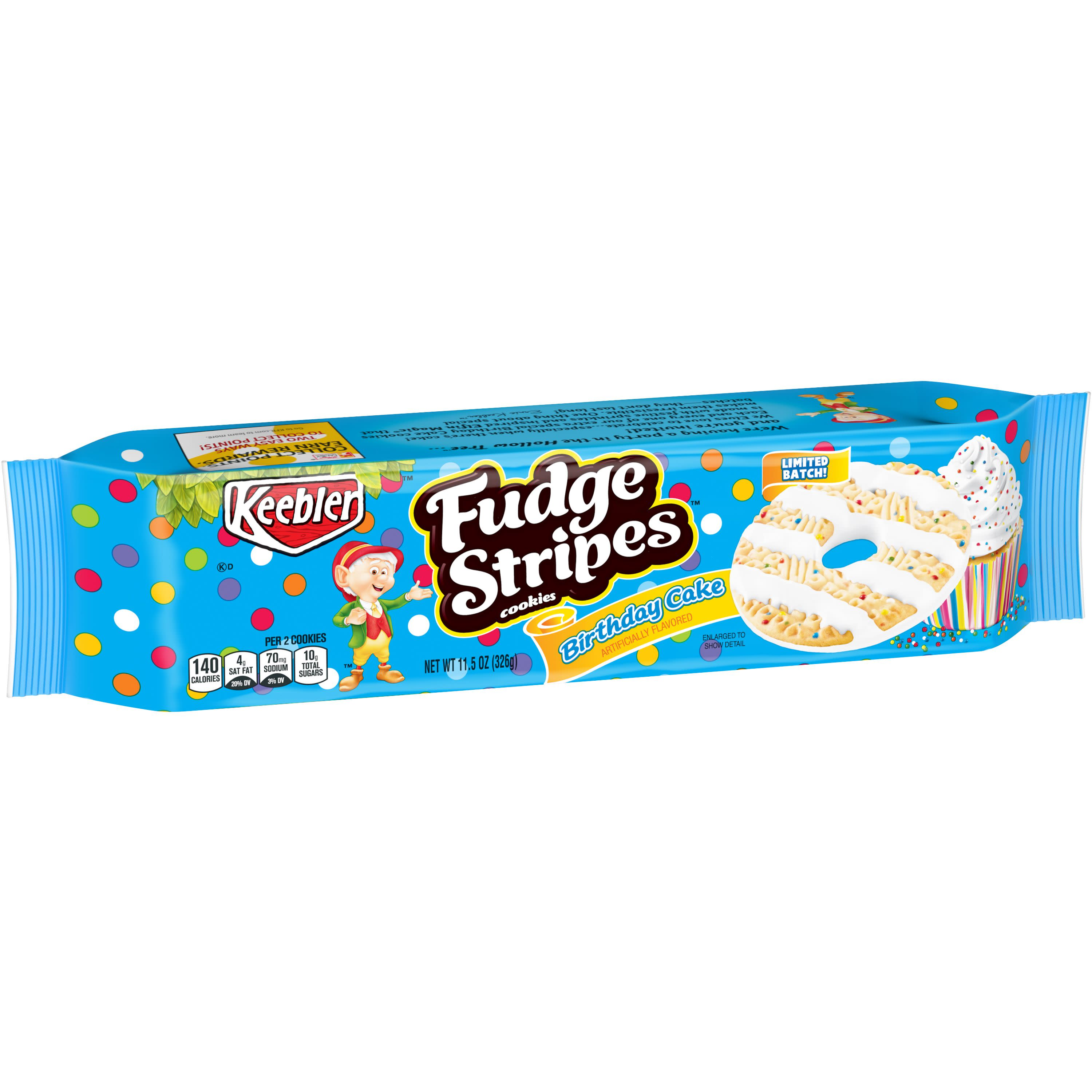 Keebler Fudge Stripes Birthday Cake Cookies 115 Oz