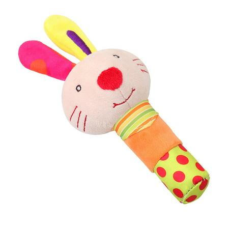 Baby rattle plush Toy Kids Baby Plush Soft Animal Handbell Rattles Cute Baby Toy Gift