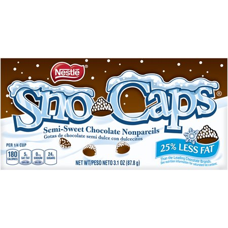 Nestle Sno-Caps Semi-Sweet Chocolate Nonpareils, 3.1 Oz.