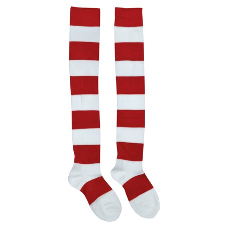 Where's Waldo Wenda Knee Socks Adult Halloween Accessory - Halloween Crossfit Socks