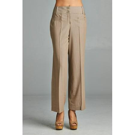 Larry Levine Front Pocket Pants - Sand - 6