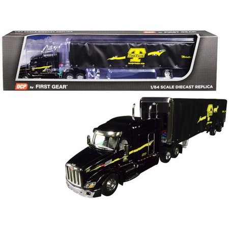 First Gear 60-0479 53 ft. Peterbilt Model 579 with 72 Mid-Roof Sleeper Cab, Black