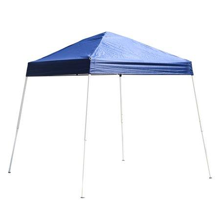 Outsunny 8' x 8' Slant Leg Pop Up Canopy Tent - Blue