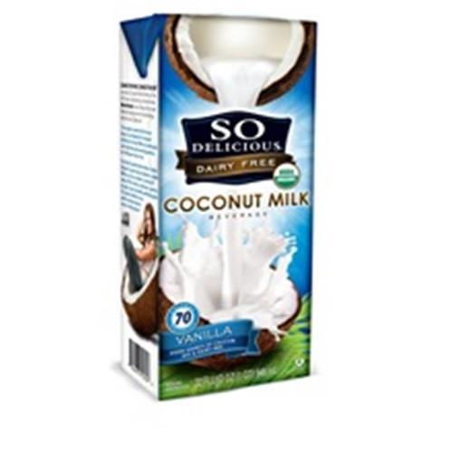(12 Pack) So Delicious Dairy Free Coconut Milk Vanilla, 32 oz