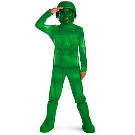 Toy Story Green Army Man Deluxe Child Halloween Costume - Green Lantern Mens Costume