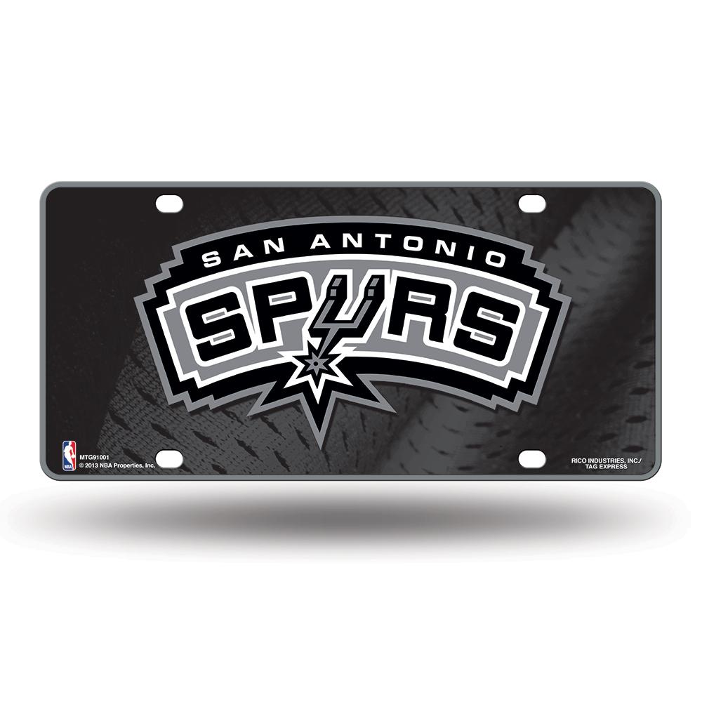 San Antonio Spurs Metal License Plate