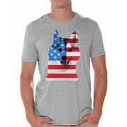 Awkward Styles American Flag Husky Dog Shirts for Men American Patriotic T Shirt Tops USA Flag Shirts 4th Of July Gifts for Husky Dog Owners Red White and Blue Independence Day Tee Shirts for Him