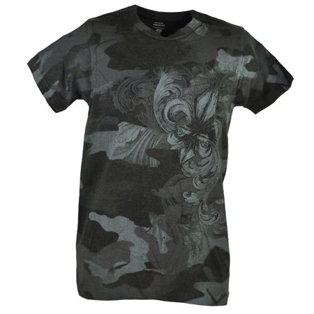 Fleur De Lis Graphic Design Tee Heather Charcoal Tshirt Mens Adult Shirt XLarge Charcoal Fleur De Lis