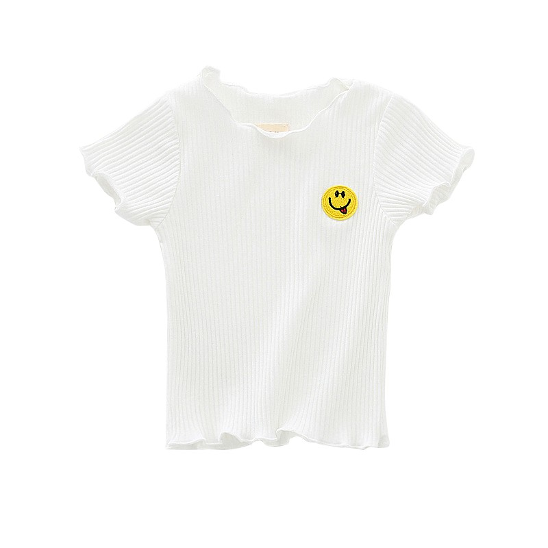 Pickleball Baby Girls Short Sleeve Ruffles T-Shirt Tops 2-Pack Cotton Tee