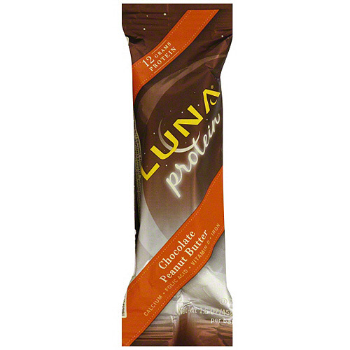 LUNA Chocolate Peanut Butter Protein Bars, 1.6 oz (Pack of 12)