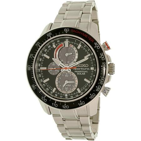 Seiko Mens Sportura SSC357 Silver Stainless-Steel Quartz Watch by