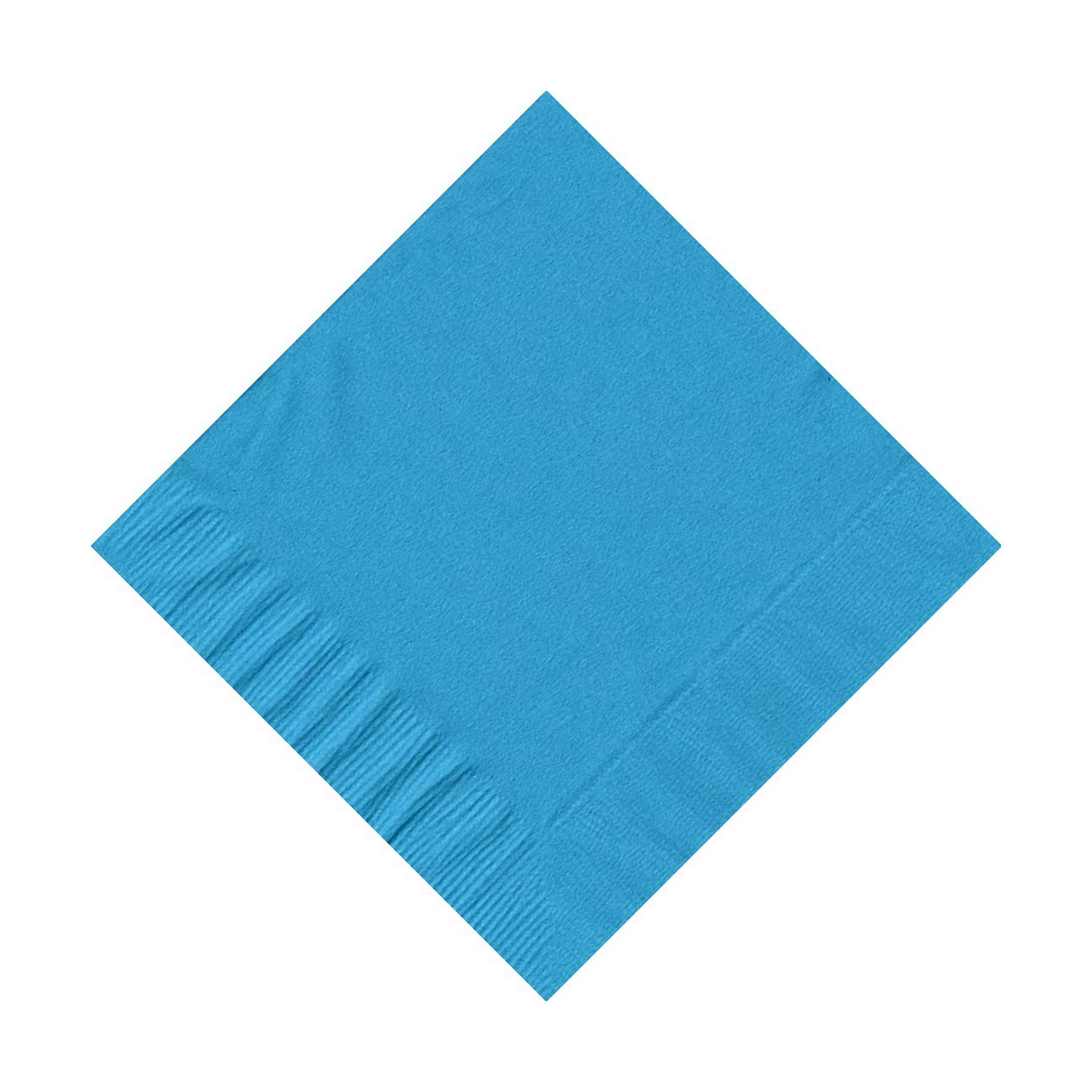 200 (4 Pks of 50) 2 Ply Plain Solid Colors Beverage Cocktail Napkins Paper Turquoise by CREATIVE CONVERTING