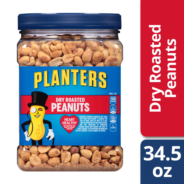 Planters Dry Roasted Peanuts, 34.5 oz