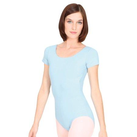 Adult Short Sleeve Cotton Dance Leotard](Leotard Dresses For Adults)