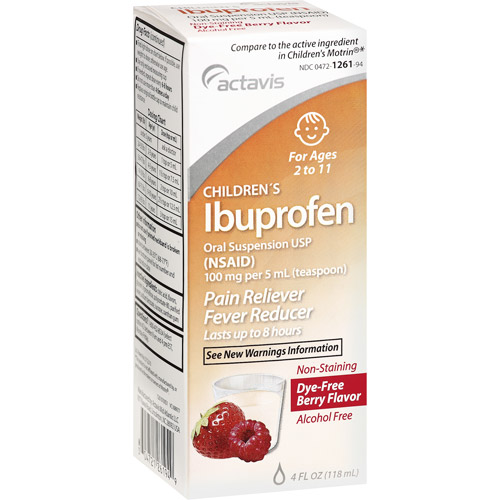 Image of Actavis Children's Ibuprofen Dye-Free Berry Flavor Oral Suspension Pain Reliever/Fever Reducer, 4 oz