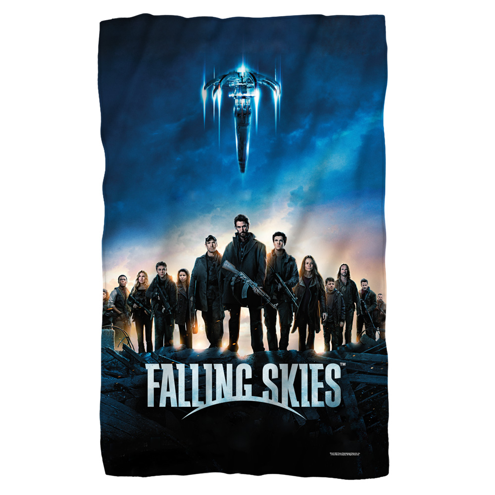 Falling Skies Poster Fleece Blanket White 48X80