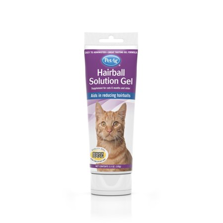 - PetAg Chicken-Flavored Hairball Solution Gel for Cats (6 Months & Older), 3.5 oz.