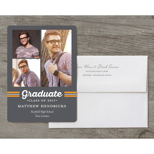 Spirited Grad Deluxe Graduation Invitation