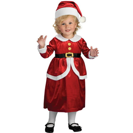 Lil Mrs. Santa Claus Toddler Girls Christmas Party Halloween Costume