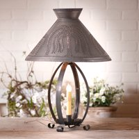 Betsy Ross Lamp with Willow Shade in Blackened Tin