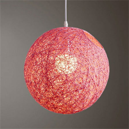 Round Concise Hand-woven Rattan Vine Ball Pendant Lampshade Light Lamp Shades Light Accessories(15cm Diameter)