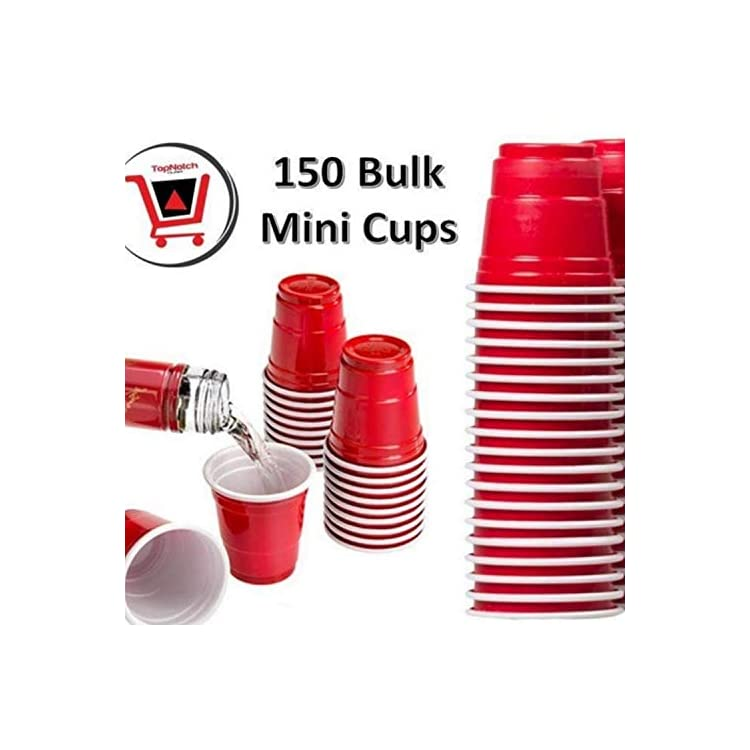 Drinkmate Reusable Mini Cups 2oz Red Solo Cup Style Party Shot Glasses Plastic Jello Shooters 16 Pack