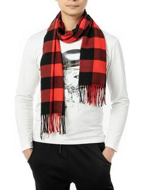 SAYFUT Scarfs for Women Men Plaid Winter Fashion Scarfs for Neck Blacket Warm Scarves Shawl Wrap with Tassel