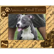 Giftworks Plus DBA0008 American Pitbull Terrier, Alder Wood Frame, 3.5 x 5 In