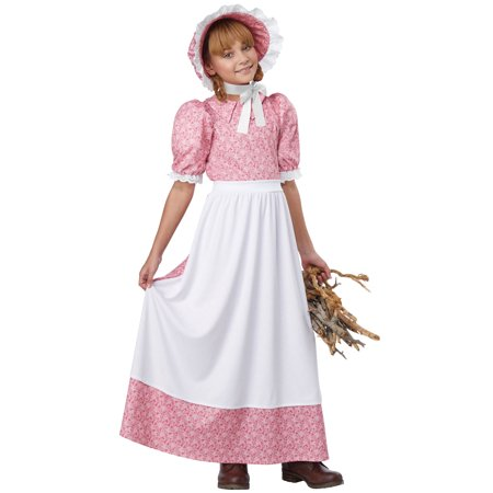 Early American Girl Child Costume - Easy Costume For Girls